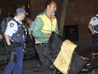 Homeless man wins the right to sleep in Martin Place in a move likely to cause giant headaches for councils